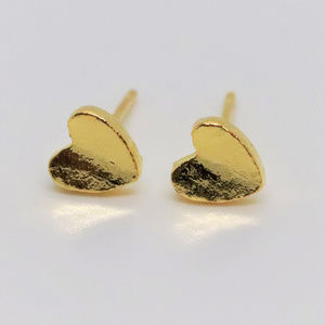 Small Heart Gold Plated Earrings